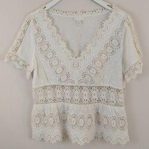 J. Crew • Crochet Lace Blouse [Tops]